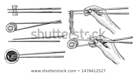 Vector sushi roll sketch Stock photo © netkov1