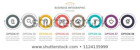 Simple chronologie modèle blanche étiquettes vecteur Photo stock © orson