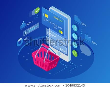 mobile · commerce · app · shopping · online · mano - foto d'archivio © sgursozlu