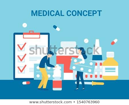 набор · медицинской · плакатов · вектора · медицина - Сток-фото © robuart