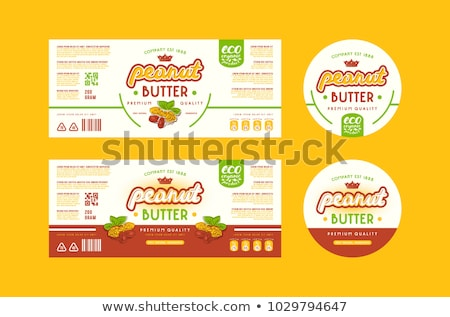 organic and vegan food labels in doodle style Stock photo © SArts