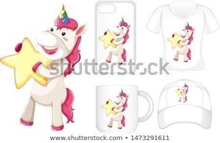 графического дизайна различный продукции звездой иллюстрация лошади Сток-фото © bluering