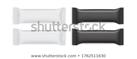 Chocolate wafer in white foil Stock photo © magraphics