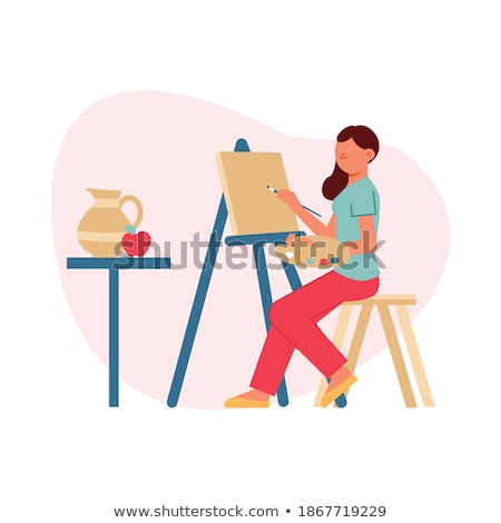 Artist Painting Drawing, Still Life Painting Easel Stock photo © robuart