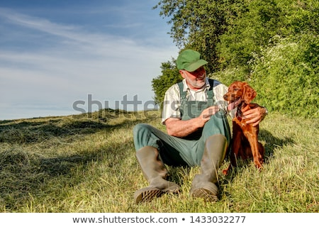Hunter with Dog, Hobby of Man with Pet on Nature Stock photo © robuart