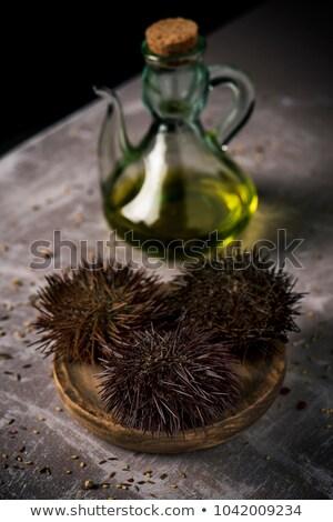 mediterranean sea urchins and olive oil Stock photo © nito