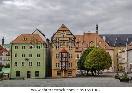 Evler Çek Cumhuriyeti grup ana pazar kare Stok fotoğraf © borisb17