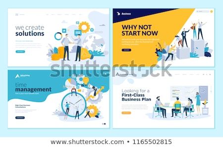 business planning   set of vector web pages stock photo © decorwithme