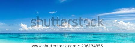 красивой пейзаж синий морем Тропический остров прозрачный Сток-фото © vapi