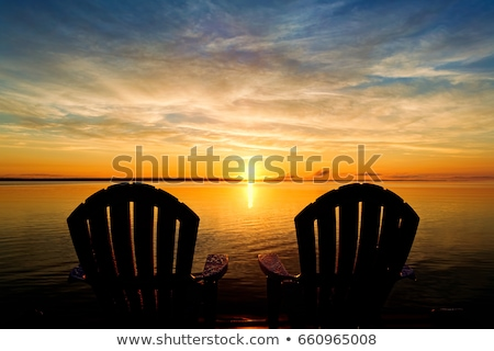 Stock photo: Sunrise at the end of the dock