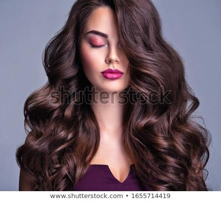 женщину длинные волосы стиль красивой Сток-фото © cienpies