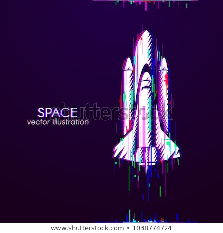 Space Exploring Launch Rocket Color Vector Stock photo © pikepicture