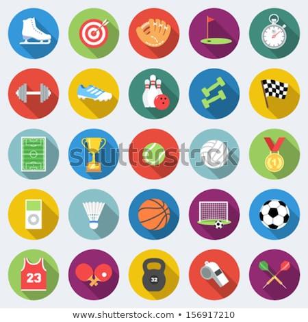 Sports whistle flat icon Stock photo © smoki