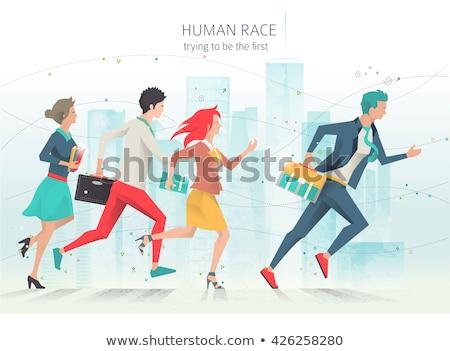 Baan concurrentie vector kleurrijk banner sjabloon Stockfoto © Decorwithme