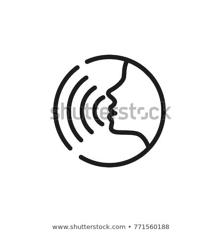 оратора · голосом · контроль · икона · вектора · тонкий - Сток-фото © pikepicture