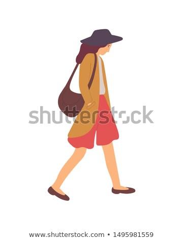 Zdenerwowany kobieta kłócić się spaceru wektora Zdjęcia stock © robuart