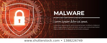 Firewall The Handsome Red Digital Background Vector Foto stock © Tashatuvango