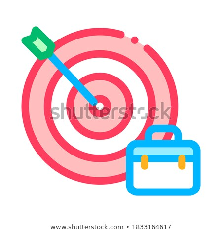 Arrow Hit Target And Case Job Hunting Vector Icon Stock photo © pikepicture