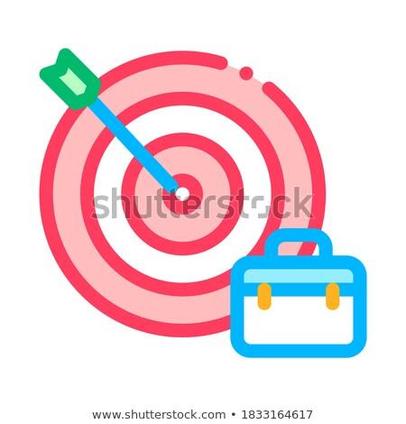 стрелка целевой случае Поиск работы вектора икона Сток-фото © pikepicture