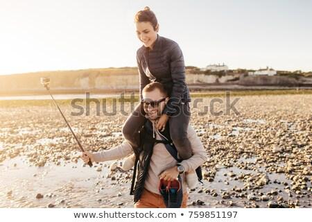 幸せ カップル 愛好家 自由時間 海岸 かなり ストックフォト © vkstudio