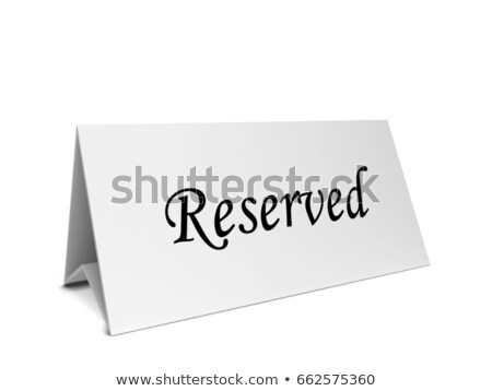 Reservation card long tent Stock photo © montego