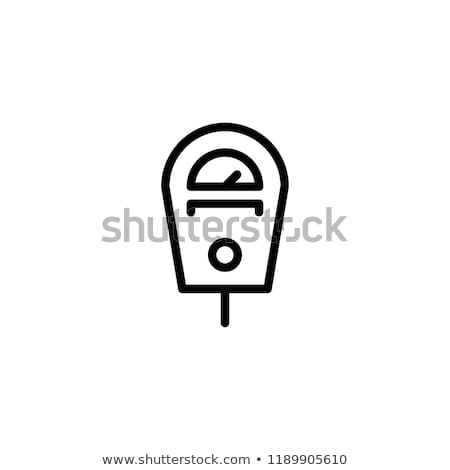 Parking Fee Icon Vector Outline Illustration Stock photo © pikepicture