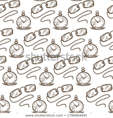 Clock Showing Time, Monochrome Sketch Outline Stock photo © robuart