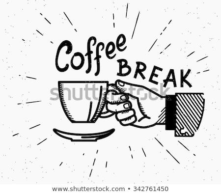 コーヒーブレイク カップ コーヒー チョコレート 女性 飲料 ストックフォト © Melnyk