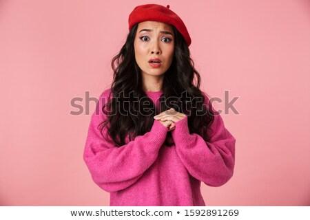 Afbeelding bang mooie asian meisje lang Stockfoto © deandrobot