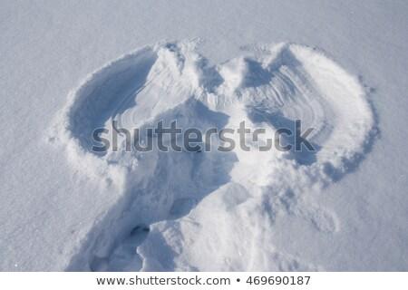 Tél hó angyal lenyomat férfi hát Stock fotó © galitskaya