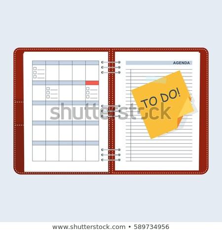 Planowania dzień harmonogram papieru dziennik notebooka Zdjęcia stock © jossdiim