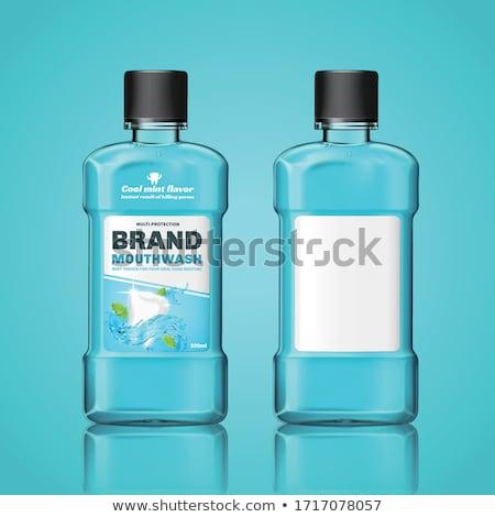 рот мыть гигиена жидкость бутылку вектора Сток-фото © pikepicture