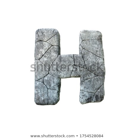 Letter H carved from stone Stock photo © ayaxmr