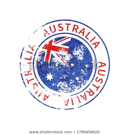 Ausztrália felirat klasszikus grunge lenyomat zászló Stock fotó © evgeny89