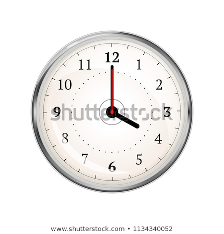 Realistic clock face showing 04-00 on white Stock photo © evgeny89
