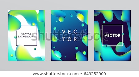 Abstract vloeistof frame futuristische Stockfoto © barsrsind