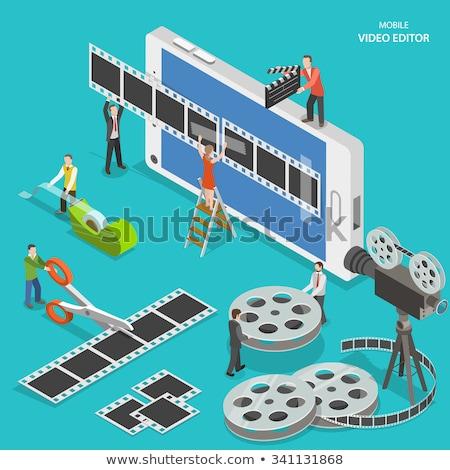Videó szerkesztő app telefon montázs szoftver Stock fotó © AndreyPopov