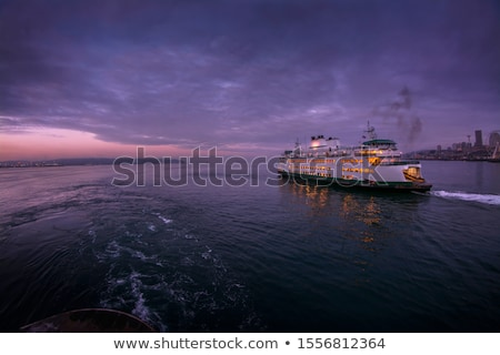 Feribot kırmızı beyaz su doğa okyanus Stok fotoğraf © bobkeenan