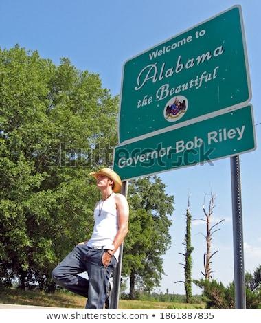 アラバマ州 緑 幹線道路の標識 高い グラフィック ストックフォト © kbuntu