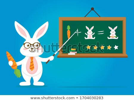 Rabbit Teacher Stock photo © qiun