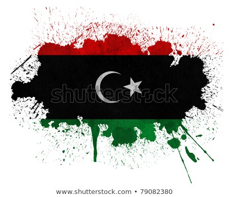 Grunge Líbia bandeira velho vintage textura do grunge Foto stock © HypnoCreative