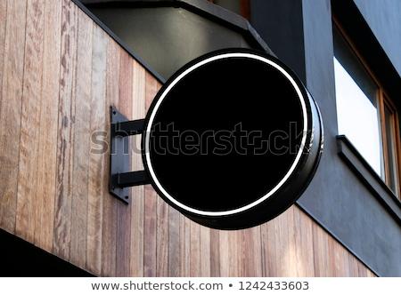bolt · felirat · antik · akasztás · téglafal · épület - stock fotó © stevanovicigor