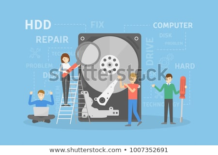 broken hard disk on white background Stock photo © gewoldi
