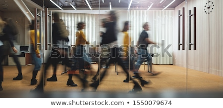 moving crowd motion blur stock photo © paha_l