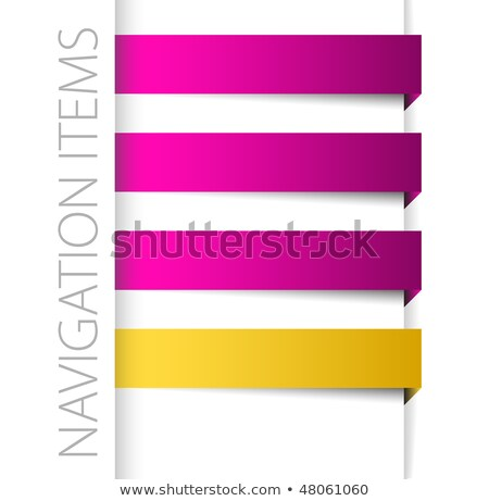 modern violet navigation items in right bar stock photo © orson
