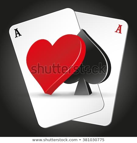Güzel poker görüntü tüm kumar arka plan Stok fotoğraf © damonshuck