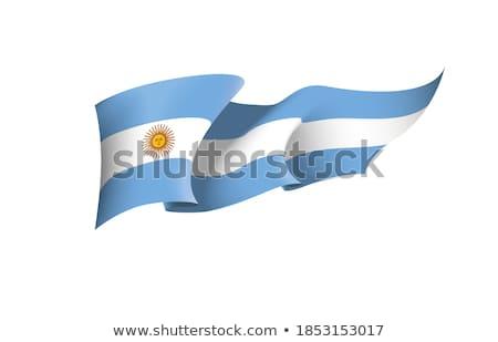 Bayrak bayrak direği rüzgâr dalga beyaz Stok fotoğraf © lalito