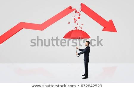 Business man on the arrow (Success or fall concept) Stock photo © 4designersart