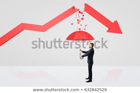 Geschäftsmann · Aktentasche · blau · arrow · stehen · nächsten - stock foto © 4designersart