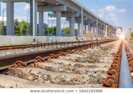 Elevated express way and subway line Stock photo © dsmsoft